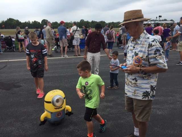 NVRC members join with other aviation enthusiasts to entertain crowds at local airshows.  This includes entertaining the kids and even putting on aerial displays with model aircraft.